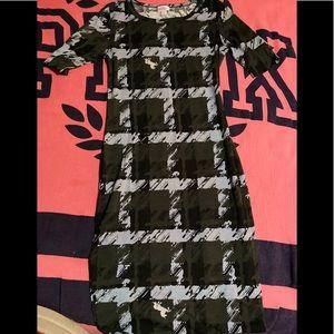 NWOT LulaRoe Julia dress!!! Square pattern/horse's